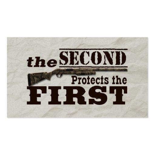 Second Amendment Protects First Amendment Business Cards