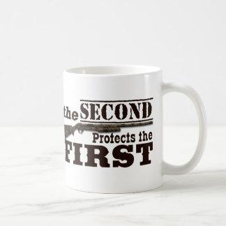 Second Amendment Protects First Amendment Classic White Coffee Mug