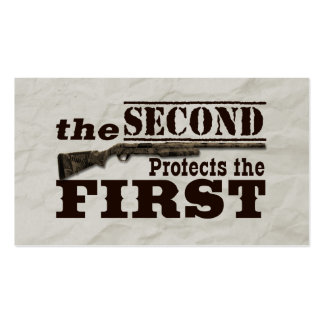 Second Amendment Protects First Amendment Double-Sided Standard Business Cards (Pack Of 100)