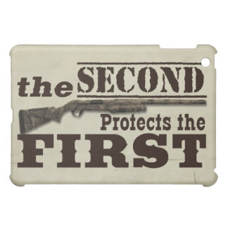 Second Amendment Protects First Amendment iPad Mini Case