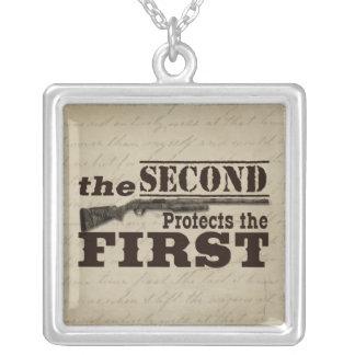 Second Amendment Protects First Amendment Necklace