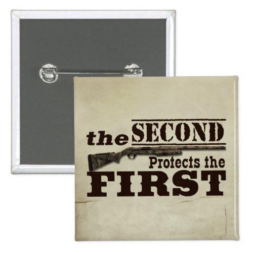 Second Amendment Protects First Amendment Pin