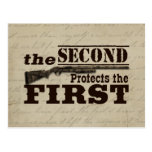 Second Amendment Protects First Amendment Post Cards