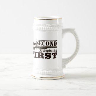 Second Amendment Protects First Amendment Stein 18 Oz Beer Stein