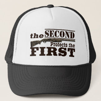 Second Amendment Protects First Amendment Trucker Hat