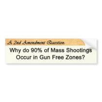 Second Amendment Question Bumper Sticker