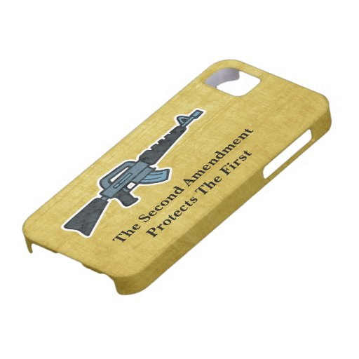Second Amendment Right To Bear Arms Rifle Art iPhone 5 Cover