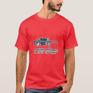 Second Amendment Right To Bear Arms Rifle Art T-Shirt