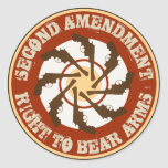 Second Amendment Round Stickers
