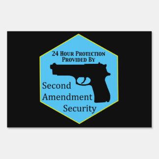 Second Amendment Security Service Lawn Sign