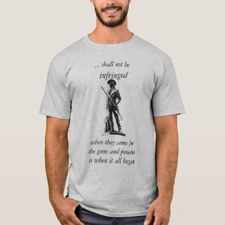 Second Amendment - shall not be infringed T-Shirt