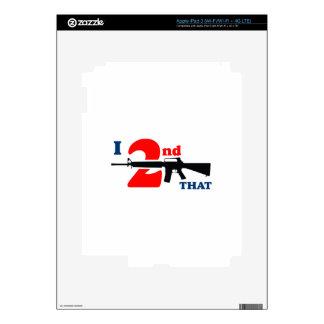 Second Amendment Decal For iPad 3