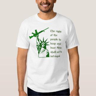 Second Amendment Statue of Liberty AR15 Tees