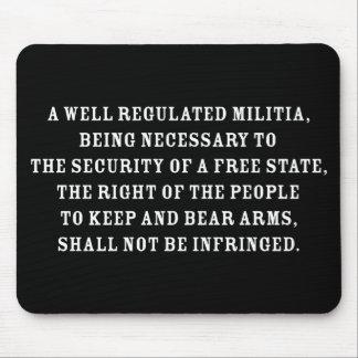 Second Amendment Text Mouse Pad