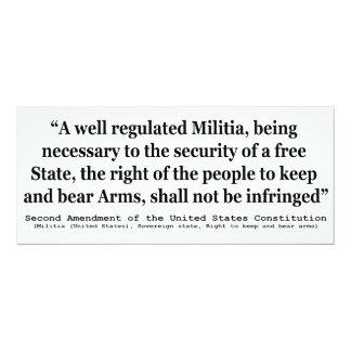 Second Amendment to the United States Constitution Custom Invitation