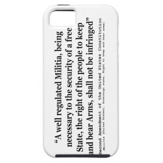 Second Amendment to the United States Constitution iPhone 5 Cases