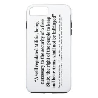 Second Amendment to the United States Constitution iPhone 8 Plus/7 Plus Case
