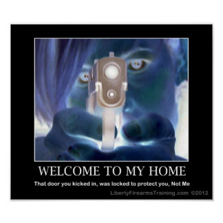 Second Amendment Welcome Sign Poster