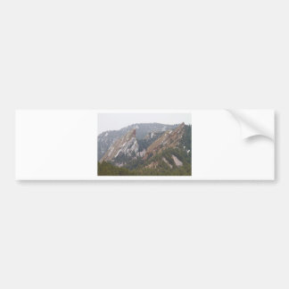 Second and Third Flatirons Boulder Colorado Bumper Sticker