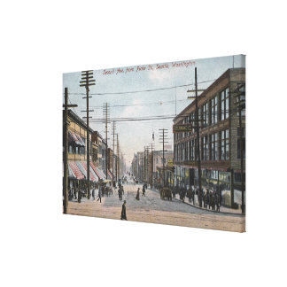 Second Ave View from Pike Street Canvas Print