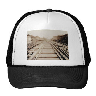 Second Ave View North From 56th Street NYC Rails Trucker Hat