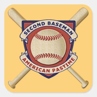 Second Baseman, American Pastime Square Sticker