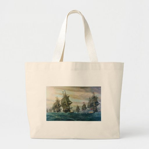 Second Battle of the Virginia Capes Canvas Bag