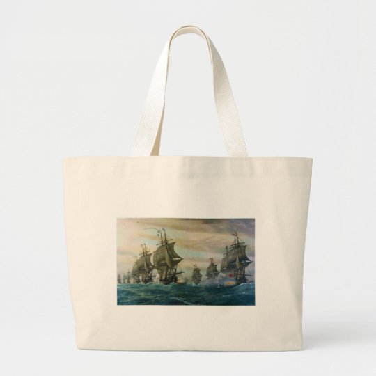 Second Battle of the Virginia Capes Large Tote Bag
