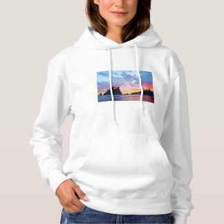 Second Beach at sunset, Washington Hoodie