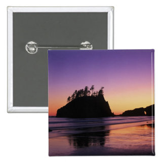 Second Beach at Twilight, Olympic NP, WA, USA 2 Inch Square Button