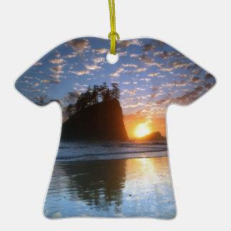 Second Beach, La Push puesta de sol, Adorno De Cerámica En Forma De Playera