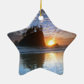 Second Beach, La Push puesta de sol, Adorno De Cerámica En Forma De Estrella