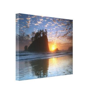 Second Beach, La push, sunset, Canvas Print