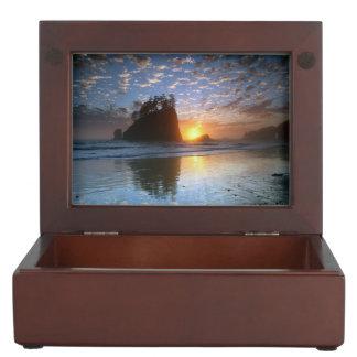 Second Beach, La push, sunset, Memory Boxes