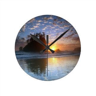Second Beach, La push, sunset, Round Clock