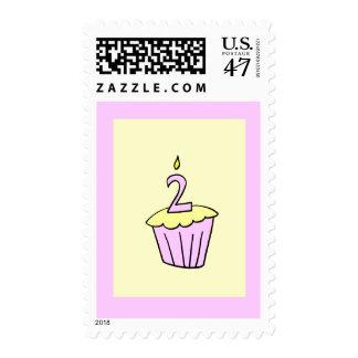 Second Birthday Cupcake Stamp