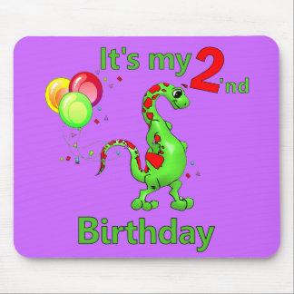 Second Birthday Dinosaur Mouse Pad