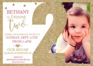 second birthday invitations zazzle
