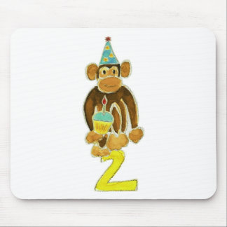 Second Birthday Monkey Mouse Pad
