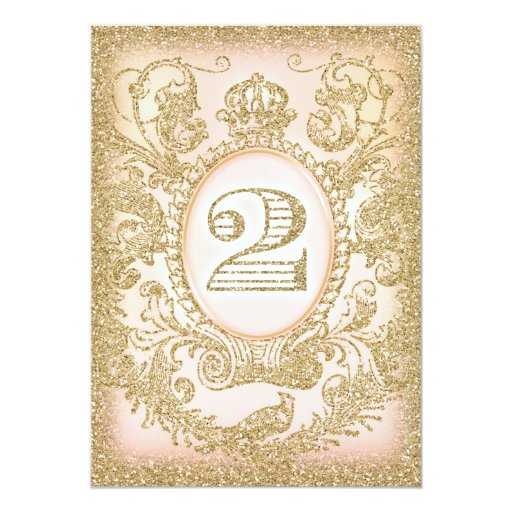 Second Birthday Once Upon a Time Princess Cards