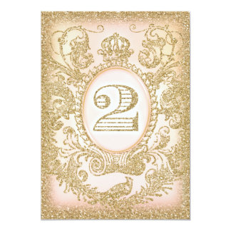Second Birthday Once Upon a Time Princess 5x7 Paper Invitation Card