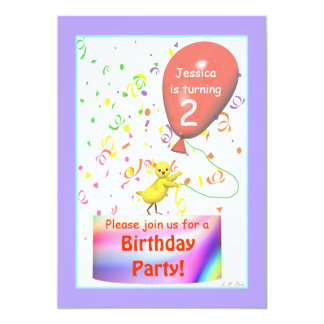 Second Birthday Party Chicken Card