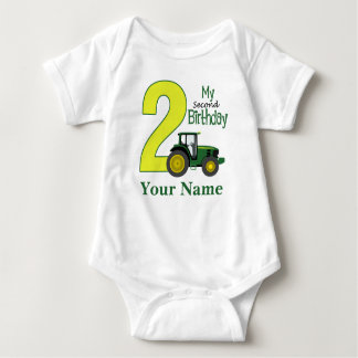 Second Birthday Personalized Baby Bodysuit