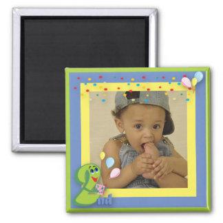 Second Birthday Photo Frame Magnet