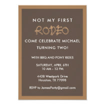 Second Birthday - Rodeo Cowboy Party Invitation