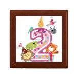 second birthday zoo animals giftbox jewelry boxes