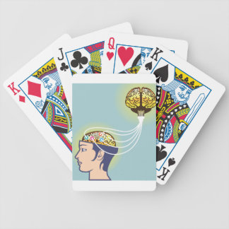 Second Brain Connected Illustration Bicycle Playing Cards