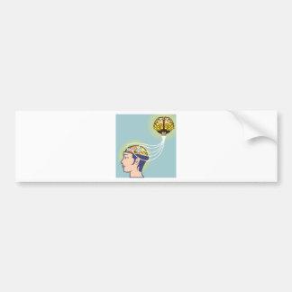 Second Brain Connected Illustration Bumper Sticker