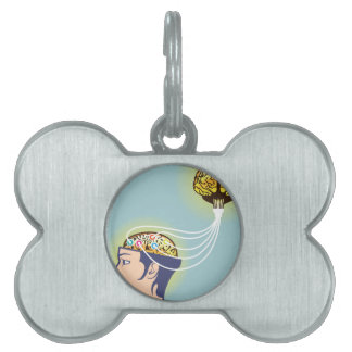 Second Brain Connected Illustration Pet ID Tag