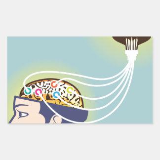 Second Brain Connected Illustration Rectangular Sticker